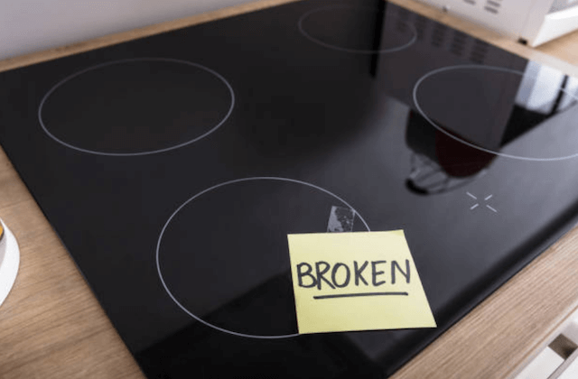 broken stovetop photo